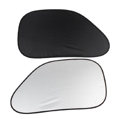 uxcell 2pcs Black Polyester Car Auto Side Window Sunshade (Side Shade For Cars compare prices)