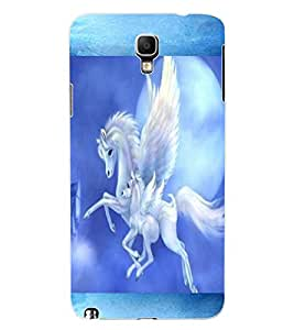 ColourCraft Flying Horse Design Back Case Cover for SAMSUNG GALAXY NOTE 3 NEO N7505