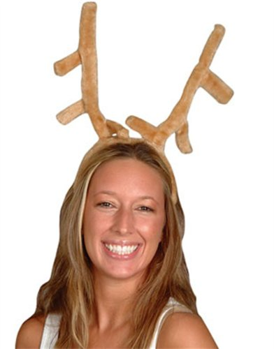 New Adult Child Dog Stuffed Furry Reindeer Antlers Hat