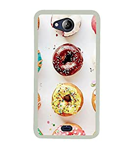Printvisa Assorted Doughnuts 2D Hard Polycarbonate Designer Back Case Cover For Micromax Canvas Play Q355