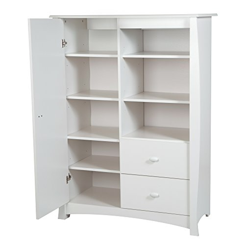 Cheapest Prices! South Shore Beehive Armoire with Drawers, Pure White