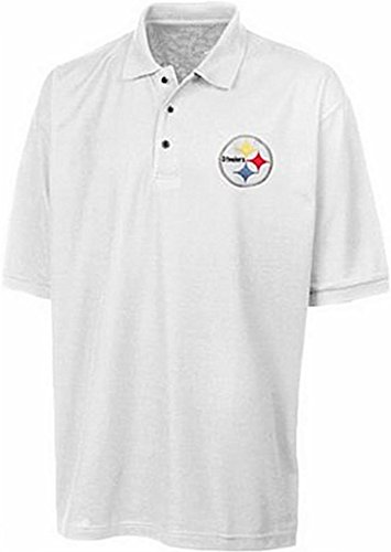 Pittsburgh Steelers NFL Team Apparel White Polo Golf Shirt All Sizes from VF Imagewear