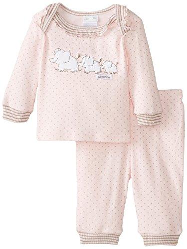 ABSORBA Baby Girls Newborn Layette Loungewear Pant Set