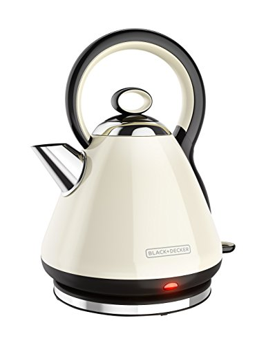 BLACK+DECKER KE2900CR 1.7L Stainless Steel Electric Cordless Kettle, Cream (Black And White Kettle compare prices)