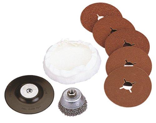 Wolfcraft-2177000-Hobby-Sortiment-fr-Winkelschleifer-bestehend-aus-Drahtbrste-Schleifteller-mit-Schleifscheiben-und-Polierhaube