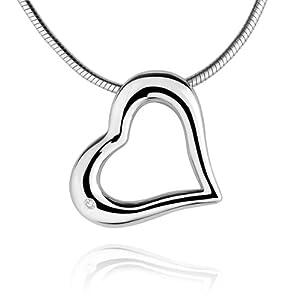 Rafaela Donata Damen-Anhänger Herz Diamond Collection 925 Sterling Silber Diamant (ohne Kette)  60250001