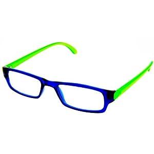Reading Glasses - Women Mens Designer - Blue/Green - Clear ...