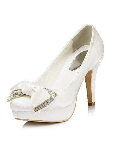 LEI&LI Donna Satin Stiletto Wedding Heel Platform Pumps / Heels con strass scarpe (più colori) , white-us11.5 / eu43 / uk9.5 / cn45 , white-us11.5 / eu43 / uk9.5 / cn45