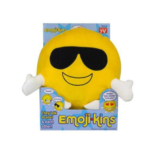 Emojikins Cool Cat Talking Pillows with Lights Emoji Pillow Stuffed Pillows Faces Round Kids Plush Soft Toy Toddlers Teens Emojies Expressions (Cute Homemade Ladybug Costumes)