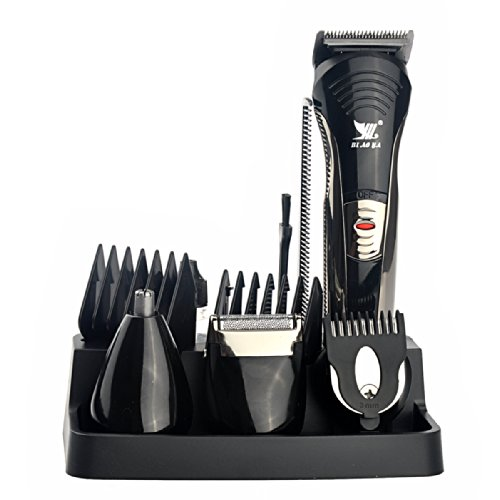 Pixnor Biaoya Bay-590 7-In-1 Washable Rechargeable Men''S Electric Shaver Trimmer Facial Body Grooming Kit