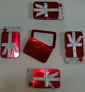 Amazon.com: Macy's Gift Card Tins Red Set of 6: Office Products