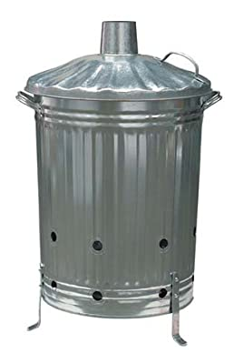 Gardman Galvanised Dustbin Incinerator For Burning Your Garden Waste by Gardman Garden Care