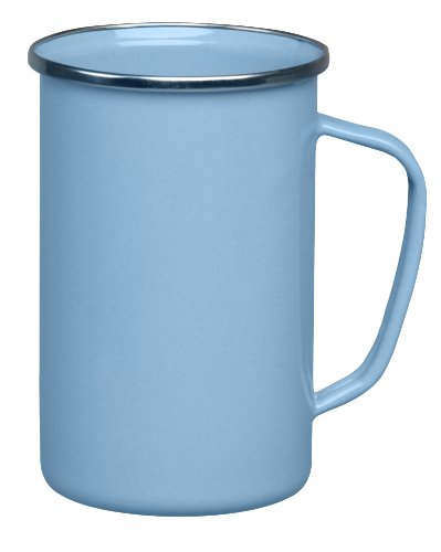Cinsa 312060 Trend Ware Enamel on Steel Tall Coffee Mug, 20-Ounce, Arctic Blue