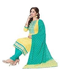 RK Fashion Womens Cotton Un-Stitched Salwar Suit Dupatta Material ( MITTAL-SANAM-7015-Yellow-Free Size )