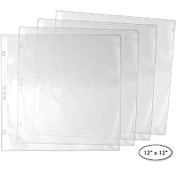 """StoreSMART® - 12"""" x 12"""" - Archival Album Refill Pages - 25-Pack - REF12-25"""