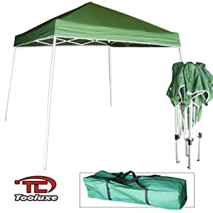 Green - Light Duty 'Instant' Foldable Portable Canopy 10' x 10' Tent - Carrying Pouch Included