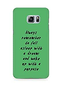 AMEZ always remember to fall asleep with a dream Back Cover For Samsung Galaxy S6 Edge Plus