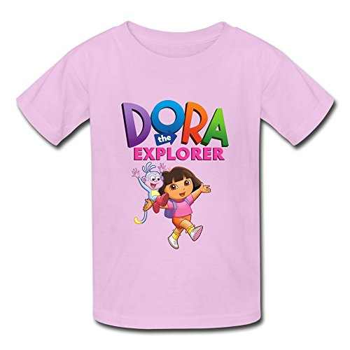 [Seico Dora The Explorer Boots T-shirt For Unisex Kids M Pink] (Boots And Swiper Costumes)