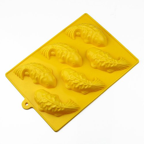 Wholeport 6-Fish Silicone Cake Mold Mould Cake Pan Handmade Biscuit Mold (Fish Mold Pan compare prices)