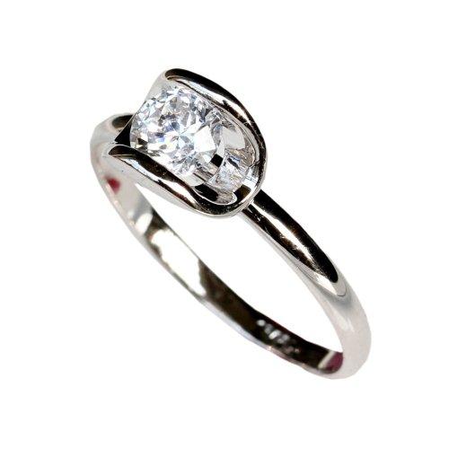 Fashion Plaza CZ Use Swarovski Crystal 18K White Gold Plated Engagement Wedding Ring Size 6