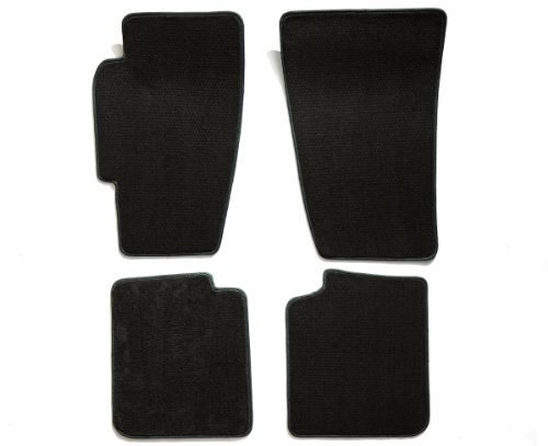 Premier Custom Fit 4-piece Set Carpet Floor Mats for Volkswagen (Premium Nylon, Black) (2009 Vw Rabbit Cargo Cover compare prices)