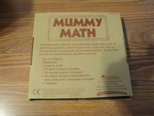 Learning Resources Mummy Math - Addition/Subtraction Game - 1