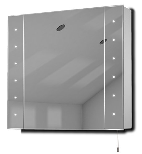Regal Led Illuminated Battery Bathroom Mirror Cabinet With Pull Cord K142