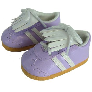 Lavender Golf Shoes for 18 Inch Dolls Like American Girl - 1