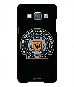 Warner Bros Dark Knight - Batman Gotham Police Back Cover for Samsung Galaxy A7 (Multicolor)