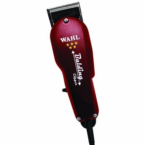 "Wahl Professional 5 Star Balding Clippers with Super Charged V5000 Motor and Zero Overlap Surgical Blades, Comes with ""000000"" Closeness Blades, and Bonus FREE WAHL 10 Piece Comb Set (1/8"" - 1"", Left and Right Ear Taper Combs)"