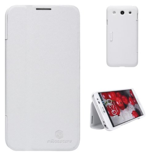 Buy Nillkin V Style Mix Flip PU Leather Cover PC Hard Case for LG Optimus G Pro (White)