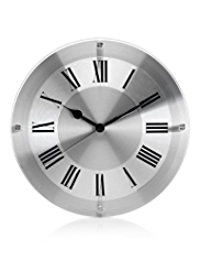 Glass & Metal Wall Clock