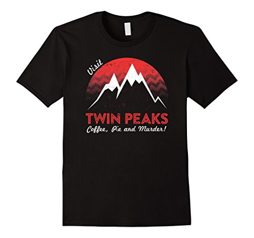 Men's Visit Twin Peaks T Shirt Medium Black (Twin Peaks Clothes compare prices)