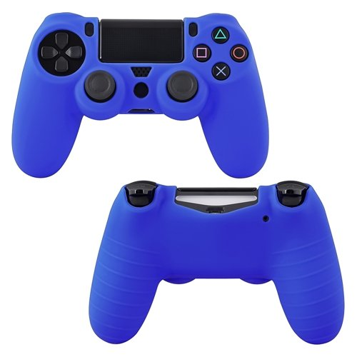 Theo&Cleo Blue Silicone Skin Case For Sony PlayStation 4 (PS4) Controller 10pcs lot vinyl for star wars ps4 sticker for sony playstation 4 console 2 controller skin sticker for ps4 skin free shipping