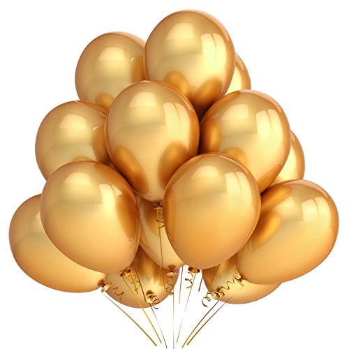 Home-Kitty-100-Pack-12-Inches-Gold-Color-Party-Balloons