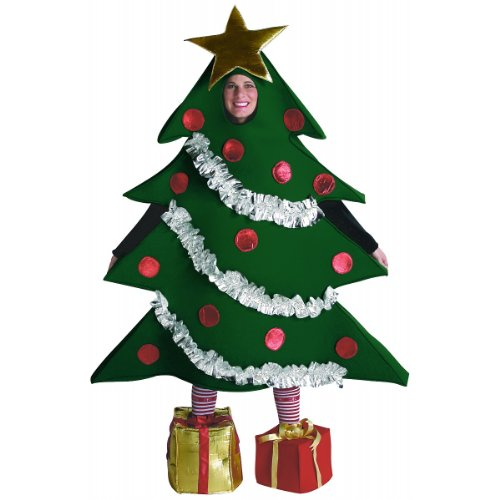 [Adult Christmas Tree Costume with Presents for Shoes] (Christmas Present Costumes)