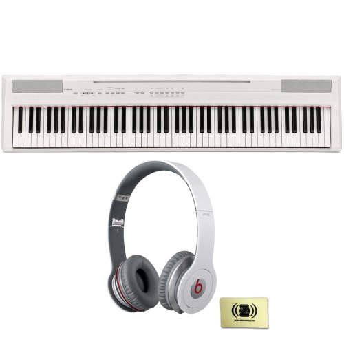 Yamaha P-Series P-105 88 Key Digital Piano (White) Bundle With Beats By Dr. Dre 900-00012-01 Solo Hd On-Ear Headphones (White) And Custom Designed Zorro Sounds Cloth