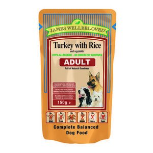 James Wellbeloved Adult Pouch Turkey with Rice and Vegetables '10 Pouches  x 150 g'