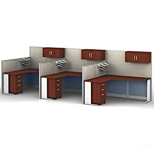 office in an hour l shaped desk cubicle set 3 cubicles