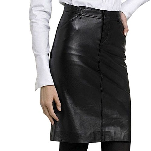 purchase bgsd womens classic lambskin leather pencil skirt