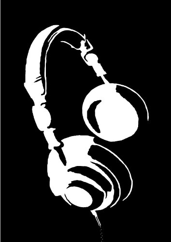 Headphones - Style #4 Vinyl Wall Decal