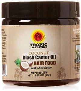 Tropic Isle Living Coconut Jamaican Black Castor Oil Hair Food, 4 Ounce
