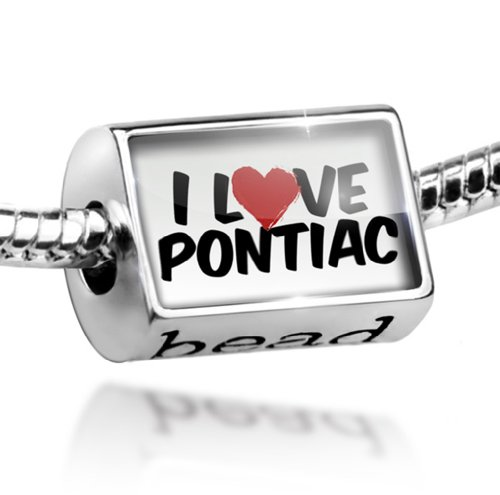 Bead I Love Pontiac - Charm Fit All European Bracelets , Neonblond (Pontiac Charm compare prices)