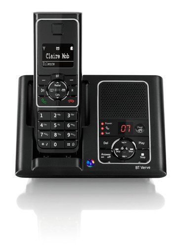 BT Verve 450 DECT Single Cordless Digital Telephone with Answering Machine - Black picture