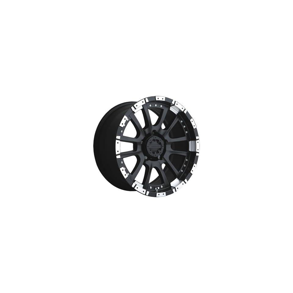 Advanti Racing Roccia 18x9 Black Wheel / Rim 6x5.5 with a 0mm Offset and a 106.10 Hub Bore. Partnumber 74MB RC89639005