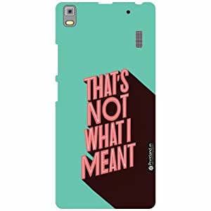 Lenovo A7000 PA030023IN Back Cover - That'S Not What I Meant Designer Cases
