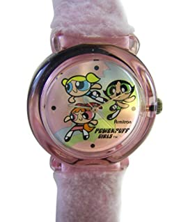 Fuzzy Band Powerpuff Girls Watch - Kids Powerpuff Girls Watch with Furry Band