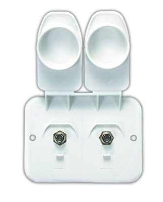 JR Products 543-B-2-A Polar White Cable/Cable Plate