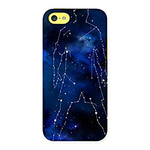 Cute Star Man Multicolor Back Case Cover for iPhone 5C