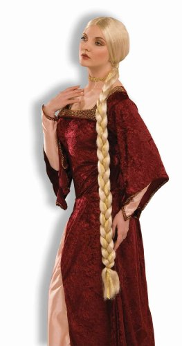 Forum Novelties Women's Adult Extra Long Blonde Braids Rapunzel Costume Wig